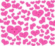 Heart with pink on white background. stock illustration