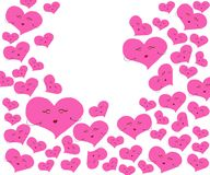 Heart with pink on white background. vector illustration