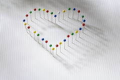 Heart of pins Royalty Free Stock Photos