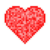 Heart Pixel Icon Royalty Free Stock Image