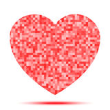 Heart Pixel icon. Vector illustration for your design stock illustration