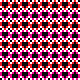 Heart Pixels pattern 4 colors. Vector Heart Pixel 4 color pattern for Valentine Day stock illustration