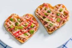 Heart pizza Royalty Free Stock Photos
