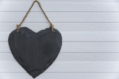 Heart on the plank Royalty Free Stock Photo