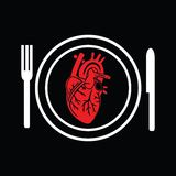 Heart on a plate Royalty Free Stock Photography