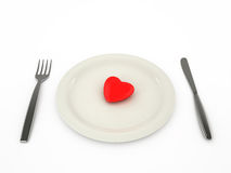 Heart on a plate Stock Image