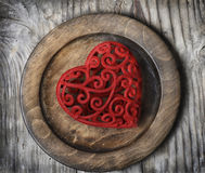 Heart on Plate Royalty Free Stock Photo