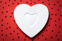 Heart Plate Royalty Free Stock Photos