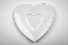 Heart Plate Stock Image