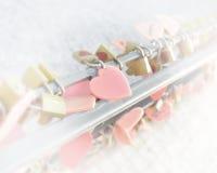 Heart plates love symbol Stock Photo