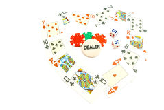 Heart from playing cards Stock Photography