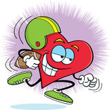 Heart playing football Royalty Free Stock Image