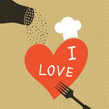 Cooking love Stock Images