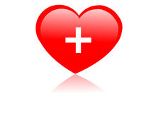 Heart with plus sign Royalty Free Stock Photo