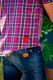 Heart in a pocket Royalty Free Stock Images