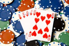 Heart poker Stock Image