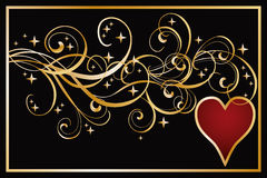 Heart poker banner Royalty Free Stock Image
