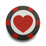 Heart Poker Chip Royalty Free Stock Photography