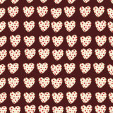 Heart with polka dots. Seamless pattern Stock Image