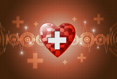 Heart polygon background. EPS 10 VECTOR Stock Illustration