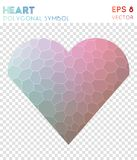 Heart polygonal symbol. Appealing mosaic style symbol. enchanting low poly style. Modern design. heart icon for infographics or presentation Royalty Free Stock Photos