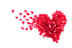 Heart from pomegranate Royalty Free Stock Photo