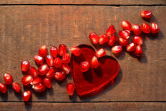 Heart And Pomegranate Royalty Free Stock Images