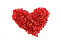 Heart of pomegranate Royalty Free Stock Image