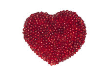 Heart of pomegranate seeds Stock Photo