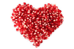 The heart of the pomegranate seeds Stock Images