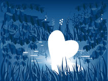 Heart in pond Royalty Free Stock Images