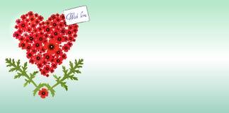 Heart of poppies Stock Photo