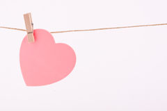 Heart post it Royalty Free Stock Images