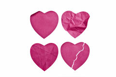 Heart postit. Heart note valentine day love Royalty Free Stock Image