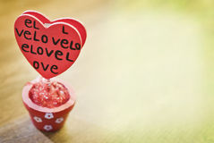 Heart in pot Royalty Free Stock Photo