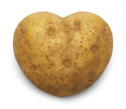 Heart Potato. Heart Shaped Potato Isolated on a White Background Royalty Free Stock Images