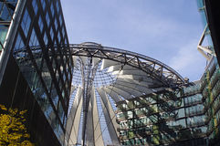 The heart of Potsdamer Platz, Berlin, Germany. The heart of Potsdamer Platz - the roof of Sony center, Berlin, Germany royalty free stock photography
