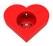 The heart power socket Stock Photos