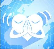 Heart pray for peace Royalty Free Stock Photo