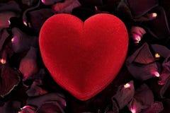 Heart present box Royalty Free Stock Photos