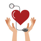 Heart pressure healthcare symbol Royalty Free Stock Images