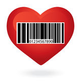 Heart with price Stock Photography