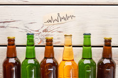 Heart problems from alcohol usage. Royalty Free Stock Image