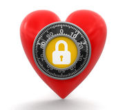 Heart protection  (clipping path included) Royalty Free Stock Image