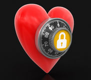 Heart protection  (clipping path included) Royalty Free Stock Photo