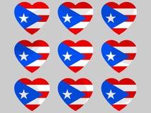 Heart with Puerto Rico flag. I love Puerto Rico. Vector. Illustration Stock Photography