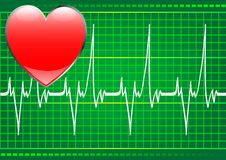 Heart and pulse Stock Photography