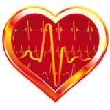 Heart pulse Stock Image