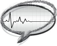 Heart pulse stock illustration