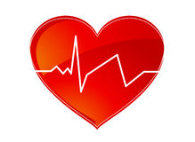 Heart pulse logo Royalty Free Stock Images